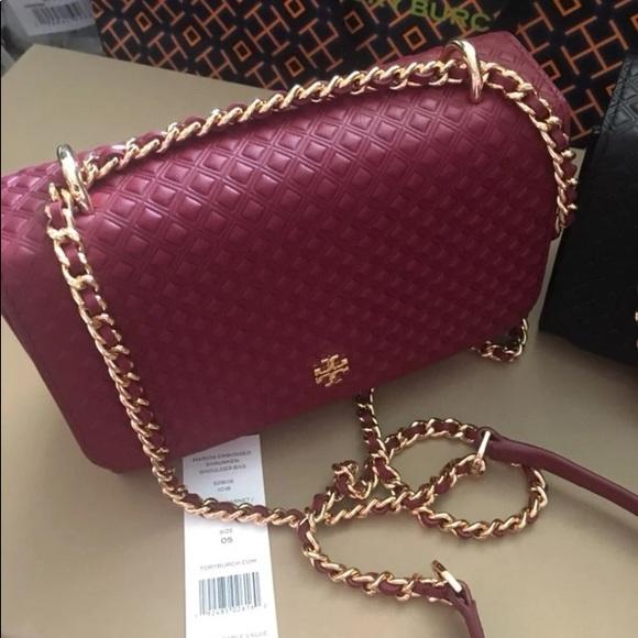 Tory Burch Handbags - Tory Burch Marion Embossed Shrunken Crossbody Bag